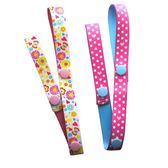 日本AKANBOU 玩具吊帶/玩具掛帶/玩具固定帶(花樣粉點)2入組