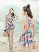 游泳衣女2021新款溫泉遮肚顯瘦女士連身韓國ins風仙女范性感泳裝 夏季新品