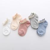 兒童襪純棉女童蕾絲花邊襪夏薄款寶寶短襪