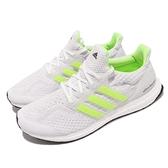 【海外限定】adidas 慢跑鞋 UltraBOOST 5.0 DNA 白 螢光黃 路跑 愛迪達 男鞋 【ACS】 G58753