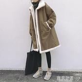 羊羔毛外套 反季棉衣女中長款冬裝羊羔毛外套寬鬆棉服韓版加厚加絨學生棉襖 寶貝計畫