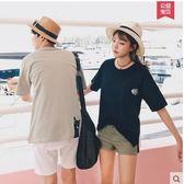 2017新款韓版寬鬆圓領半袖男女上衣LVV431【kikikoko】