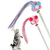 2件裝 寵物玩具 韓式毛球羽毛糖果色流蘇仙女棒貓咪逗貓棒【倪醬小舖】