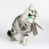 伸縮桿釣魚式大鳥羽毛逗貓棒寵物貓咪玩具 羽毛可替換 趣味逗貓棒