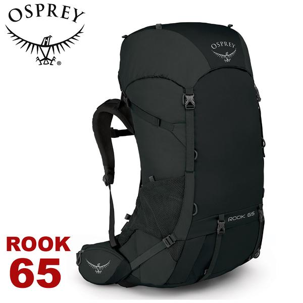 【OSPREY 美國 ROOK 65 男款 登山背包《黑》65L】雙肩背包/後背包/登山/健行/旅行