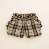 【金安德森】KA雪紡紗格側邊造型短褲