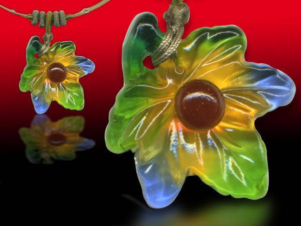 鹿港窯~居家開運水晶琉璃項鍊~楓葉情 附精美包裝◆免運費送到家◆