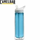 【CamelBak 美國 600ml 多水雙層吸管水瓶 水藍】53539/運動水壺/水壺/登山/露營