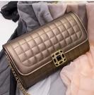韓版旅行女包鏈條手提斜跨菱格鎖扣小方包 氣質 百搭斜跨女手提包 潮流可愛 簡約時尚女手提包