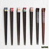 包有味道日式櫻花指甲筷子尖頭家用實木可愛餐具 情侶筷子