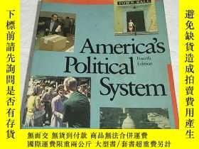 二手書博民逛書店Americas罕見Political System(Fourt