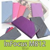 E68精品館 隱形磁扣皮套 富可視 InFocus M812 側翻支架 磨砂雙色 手機套 保護套 軟殼