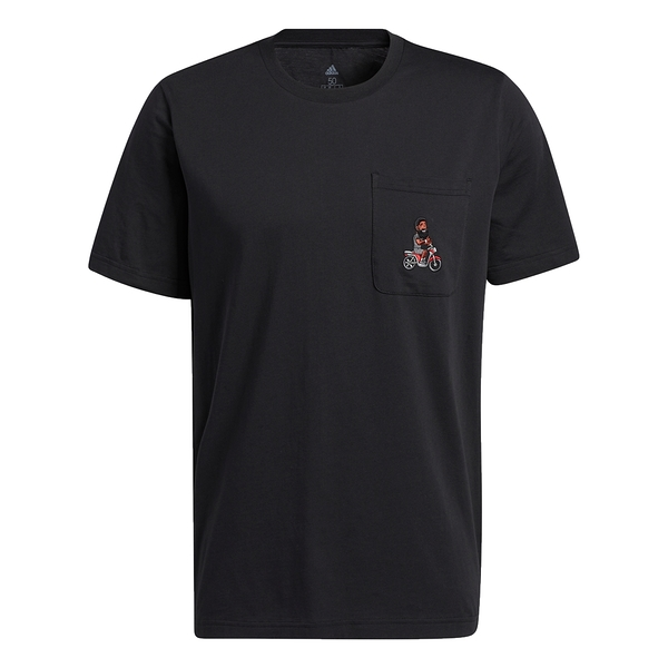 【現貨】Adidas HARDEN AVATAR POCKET 男裝 短袖 T恤 口袋 刺繡 純棉 黑【運動世界】GP3428