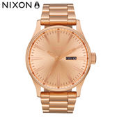 NIXON手錶 原廠總代理A356-897 THE SENTRY SS 玫瑰金色 潮流時尚鋼錶帶 男女 運動 生日情人節禮物
