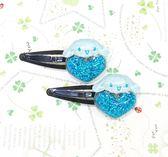 【震撼精品百貨】大耳狗_Cinnamoroll~Sanrio 大耳狗喜拿髮夾(一對)-藍心#06738