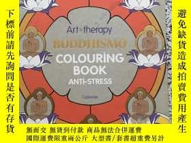 二手書博民逛書店art罕見Buddhism coloring bookY2667