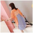 【GZ55】長版上衣 韓版寬鬆顯瘦假兩件...