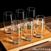 家用玻璃水杯牛奶杯耐熱泡茶杯喝水創意啤酒杯果汁杯子玻璃杯套裝艾美時尚衣櫥