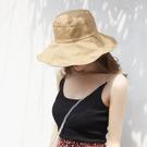 漁夫帽-棉質雙面雙色休閒防曬女遮陽帽8色...