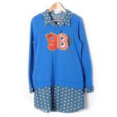 【Dailo】假兩件造型T恤-藍 10601