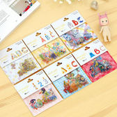 【543】日式繽紛 數位元字母 貼紙包 DIY 透明裝飾貼紙 手帳貼紙 日記貼紙 78枚 WG026