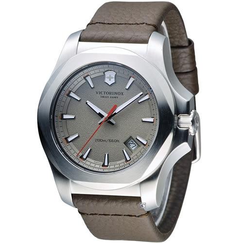 Victorinox 維氏 INOX 軍事標準皮革腕錶 VISA-241738