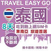【TEL25】泰國上網卡 8日 4G上網不斷網 吃到飽上網SIM卡