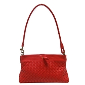 BOTTEGA VENETA 寶緹嘉 紅色編織牛皮肩背包 Mini Shoulder Bag 179198 【BRAND OFF】