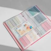 geeyrea名片冊 名片夾大容量商務 名片本男女時尚卡片夾 分裝收納