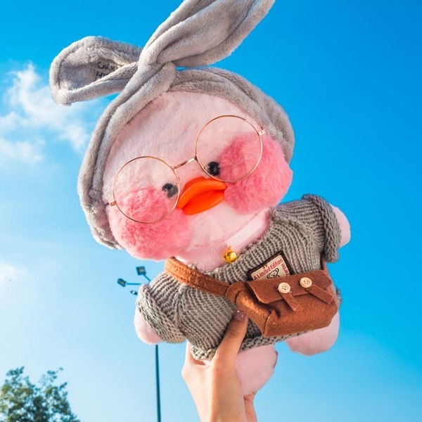 毛絨玩具-網紅玻尿酸鴨小黃鴨子毛絨玩具少女心玩偶公仔520生日禮物女娃娃 花間公主