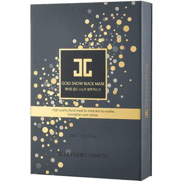 韓國 JAYJUN 黃金雪花黑珍珠面膜精華禮盒(面膜x5片+修護精華1mlx5)【小三美日】