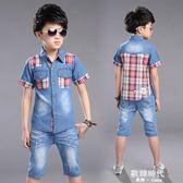 兒童裝男童夏裝套裝牛仔中大童男裝男孩5-13歲 歐韓時代