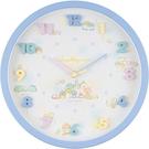 小禮堂 角落生物 連續秒針圓形壁掛鐘 時鐘 壁鐘 圓鐘 (藍 立體數字) 4589677-88932