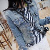 牛仔外套女春季新款長袖短款上衣 2018韓版修身BF夾克港風牛仔衣