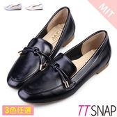 樂福鞋-TTSNAP MIT素色平滑光亮漆面休閒鞋 黑/白/灰