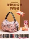 帆布包 可折疊購物袋布袋帆布袋便攜大容量大花手提買菜包超市無紡環保袋 小天使 99免運