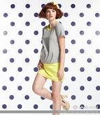 ohoh-mini孕婦裝 時尚設計露肩拼接孕婦長版上衣
