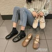 娃娃鞋 日繫軟妹淺口單鞋女2020春季新款百搭娃娃鞋森繫復古平底瑪麗珍鞋 原本良品