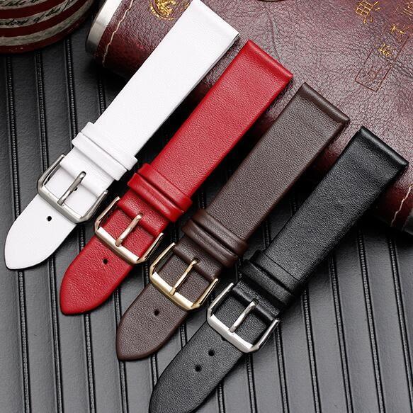 錶帶 代用錶帶 AR1674 1647手錶帶男女皮質超薄 無紋皮質 針扣款 多色
