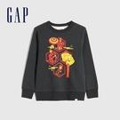 Gap男童 Gap x Marvel 漫威系列圓領休閒上衣 657565-煙灰色