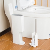 日本進口一體式垃圾桶馬桶刷套裝衛生間紙簍潔廁刷廁所清潔刷子【寶媽優品】