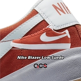 Nike 休閒鞋 Blazer Low Suede 紅 白 男鞋 麂皮 運動鞋 【ACS】 CZ4703-800