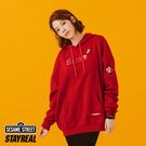 STAYREAL x 芝麻街 多色帽T(Elmo) - 紅