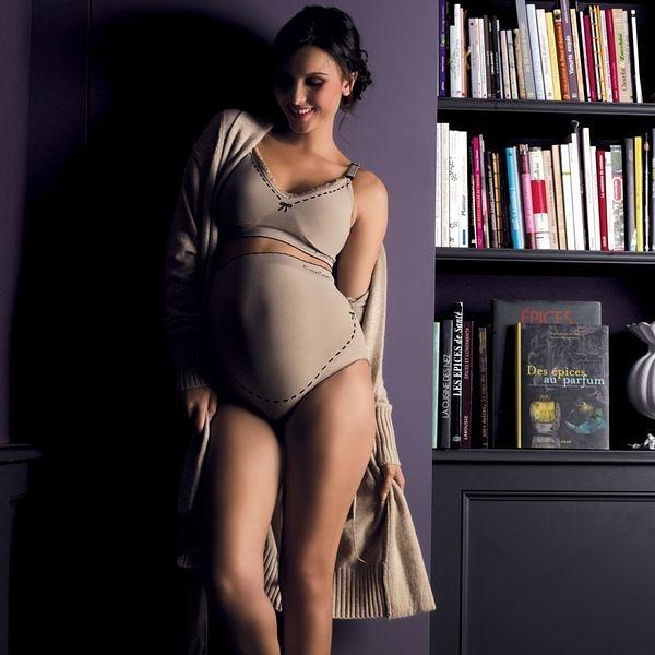 內褲 / 孕婦內褲 法國 Cache Coeur - ILLUSION 款 無縫孕婦內褲 法式裸色 CL1210