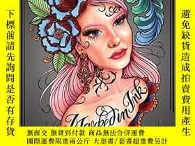二手書博民逛書店Marked罕見in Ink: A Tattoo Coloring BookY360448 Megan Mas