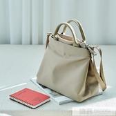 韓版原創簡約單肩尼龍公文包女士商務OL職業文件包防水輕便手提包 雙12購物節