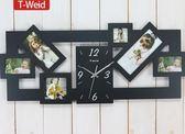 時尚相框掛鐘現代歐式創意時鐘客廳鐘錶靜音掛錶裝飾大壁鐘WY年貨慶典 限時鉅惠