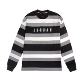 NIKE 長袖T恤 Jordan Air Tee 黑 白 男款 條紋 運動休閒 【ACS】 CV1143-010