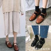 韓國甜美春季新款復古圓頭女學生娃娃休閒單鞋小皮鞋 糖糖日系森女屋