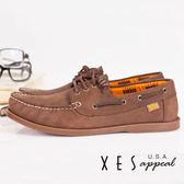 XES 女鞋 經典帆船鞋 英倫經典 水波紋底 帆船鞋 隨性淺棕